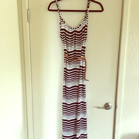 d27d3b8c5cc Dresses   Skirts - J. Valdi black and white striped maxi dress size S